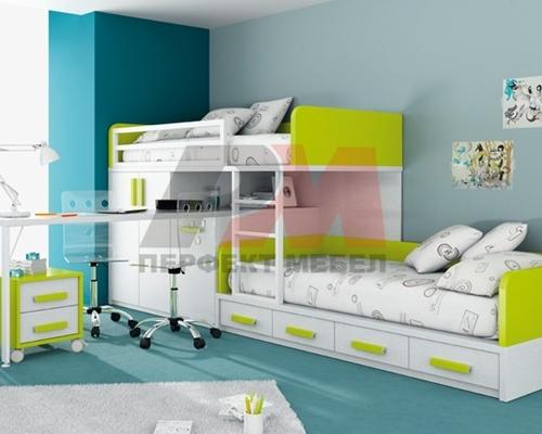 Дизайнерски детски стаи с двуетажни легла